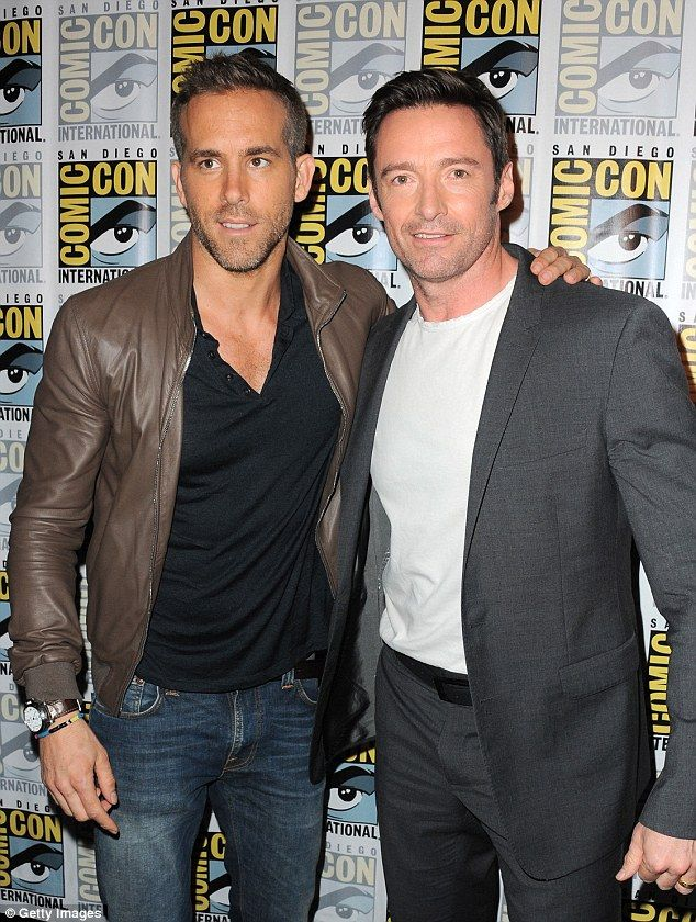 Famous friends: Hugh Jackman and Ryan Reynolds first met each other when workingtogether on the X-Men Origins: Wolverine movie in 2009