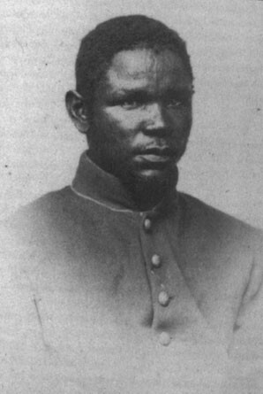 Muhammad Ali ibn Said also known as Nicholas Said(1833-1882). In 1863 Muhammad enlisted in the 55th Massachusetts colored regiment and became a Civil War hero. He served faithfully and bravely with his regiment as Corporal and then Sergeant in the South. Near the close of the war he was assigned, at his own request, to the hospital department, to learn some knowledge of medicine. His Army records show that he died in Brownsville, Tennessee in 1882.
