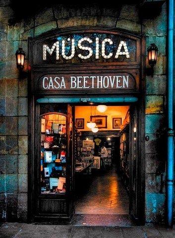 Esta es una tienda de discos en España. Muchos discos clásicos y álbumes se pueden comprar aquí. Algunas tiendas de música incluso tienen discos autografiados para la venta.