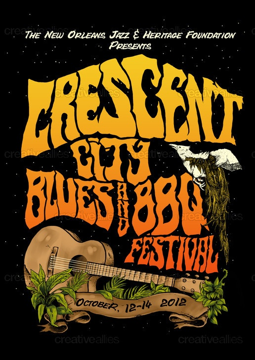 The Crescent City Blues & BBQ Festival T-Shirt by diankiamad on CreativeAllies.com