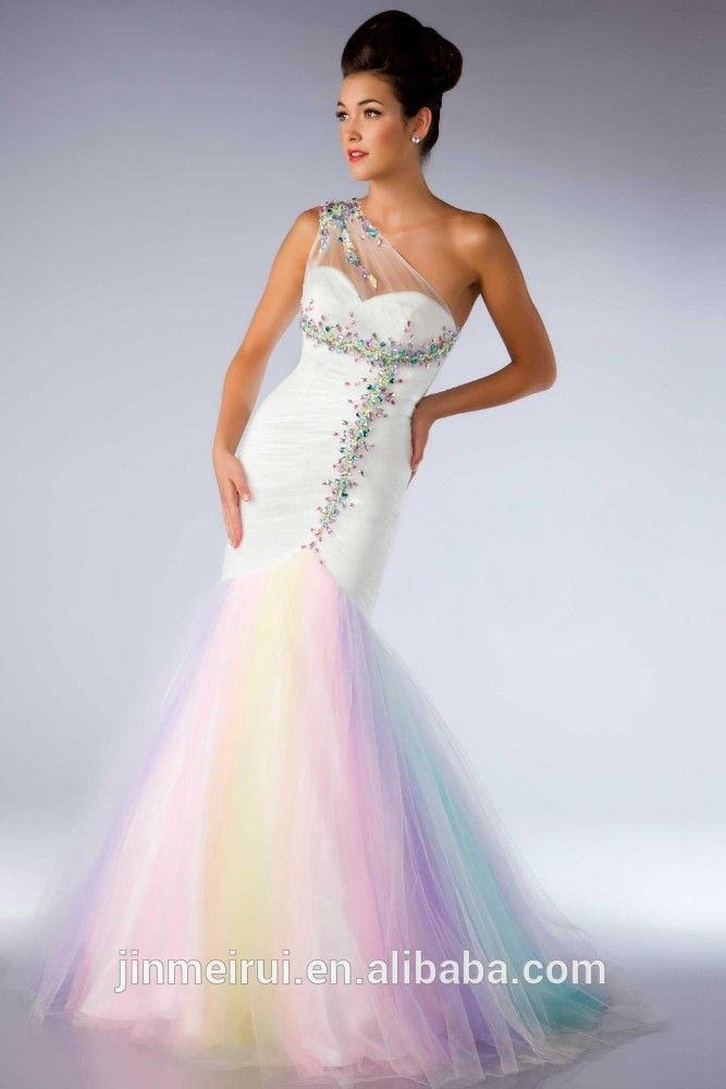 Pastel Rainbow Wedding Dress – Dresses for Woman