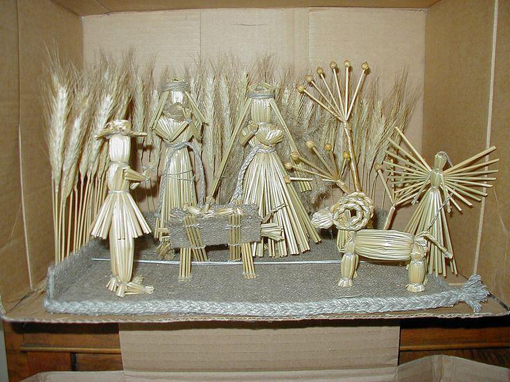 Lithuanian Straw nativity