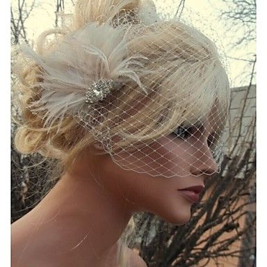 Hand Made Wedding Feather Hair Clip Fascinator Headpieces Fascinators 027 – CAD $ 20.84