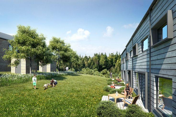 Nærsnes - Trinn 2 - 5-roms enderekkehus med stor, solrik hage. Antatt ferdig 3. kvartal 2016. 2 bad. Carport og biloppstillingsplass.
