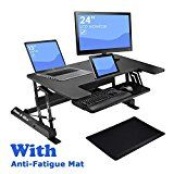 """Adjustable Height Sit Stand Desk, 36"""" Wide Standing Desk Workstation, Included One Anti-Fatigue Mat, for... Why You Need It? • Relieve Neck or Back Pain: When you are standing, it enables the https://thehomeofficesupplies.com/adjustable-height-sit-stand-desk-36-wide-standing-desk-workstation-included-one-anti-fatigue-mat-for-homeoffice-laptopcomputer-with-smartphone-and-tablet-holder/"""