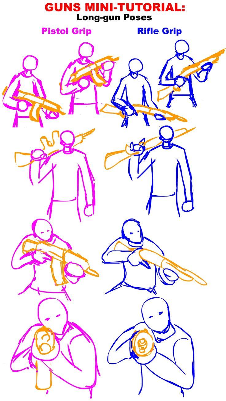 Guns Tutorial: Long gun Poses by ~PhiTuS on deviantART