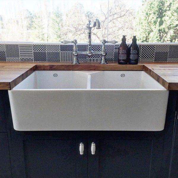 1000 ideas about butler sink on pinterest belfast sink for Farmhouse double wide