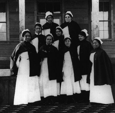 From the US Military's Office of Medical History: African American nurses served in the Army nurse corps in world War I. They were never sent overseas, however, because of logistics issues associated with creating segregated quarters and work areas.