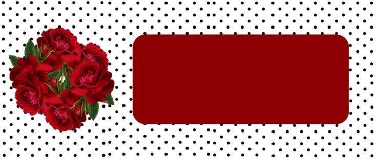 Cabeçalho para blogs flores vermelhas e poá preto e branco Blog dikas e diy