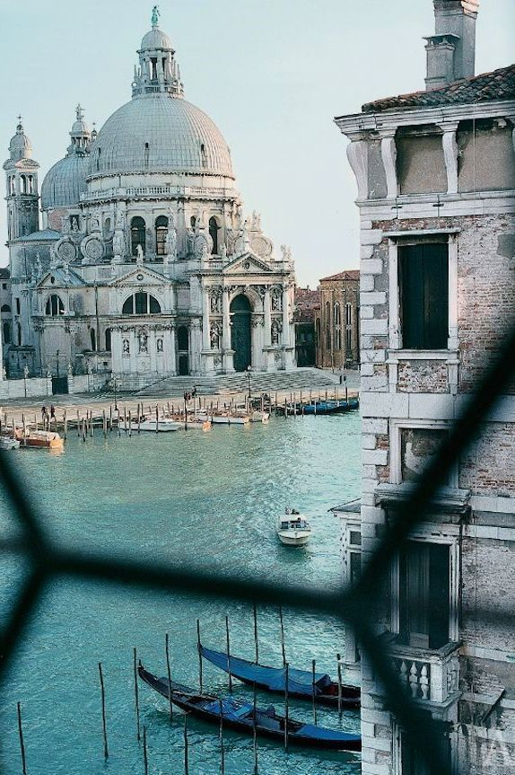 "Venice, Italy. I remember being caught at ""alta acqua"" & having to make do with an impromptu picnic lunch on the steps of this Basilica. An unexpected opportunity to sit back & take in the views across the Grande Canal to San Marco & the Doge's Palace."