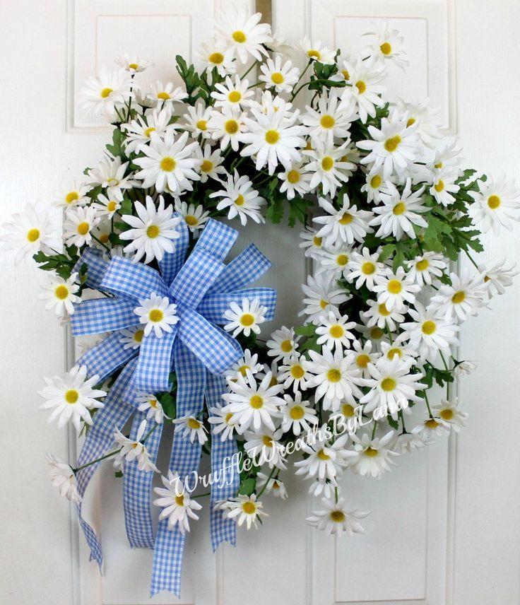 White Daisy Spring Wreath, White Daisy Wreath, Daisy Grapevine Wreath, Spring Grapevine Wreath, Easter Daisy Wreath, Mother's Day Wreath by WruffleWreathsbyLana on Etsy