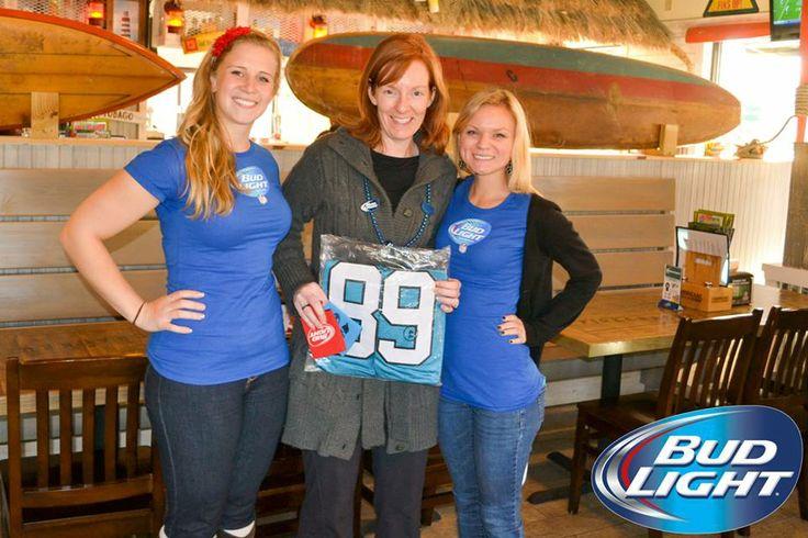 The winner of a Carolina Panthers jersey at Hurricane Bar and Grill!! #HurricaneBarandGrill #BeerLovesRaleigh #CarolinaPanthers