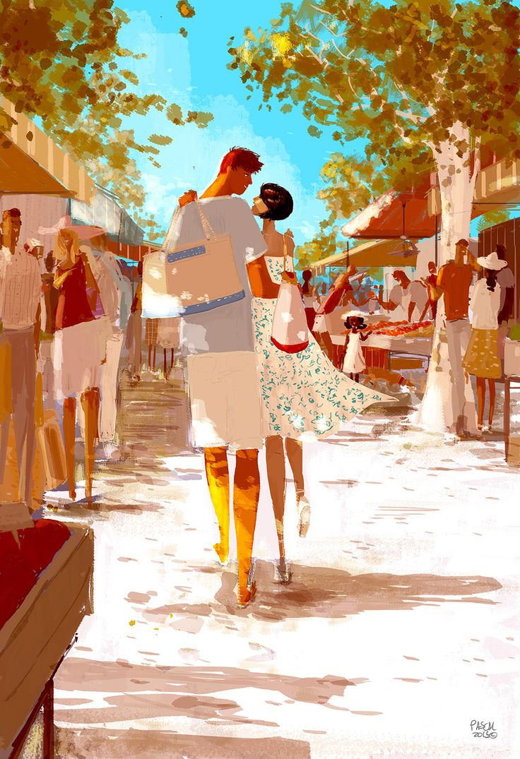 ⌨THE MARKET by Pascal Campion⌨ #pascalcampion #paintings #artwork