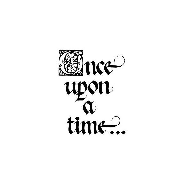 Once Upon A Time Words: Once Upon A Time Large Wood Mounted Stamp By Classic