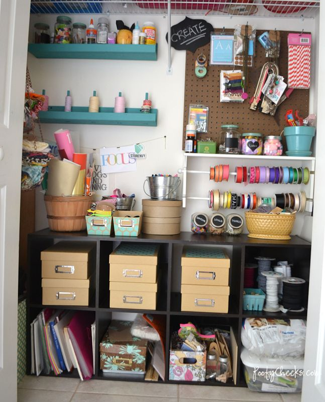best 25 craft closet organization ideas on pinterest 11144 | fd87d8233a7d11144dfa87fc21ab4b81 closet craft rooms craft closet organization