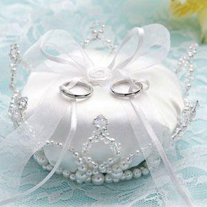 クリスタル感がキュート♡結婚式の必需品リングピローのおしゃれ一覧♡ウェディング・ブライダルの参考に