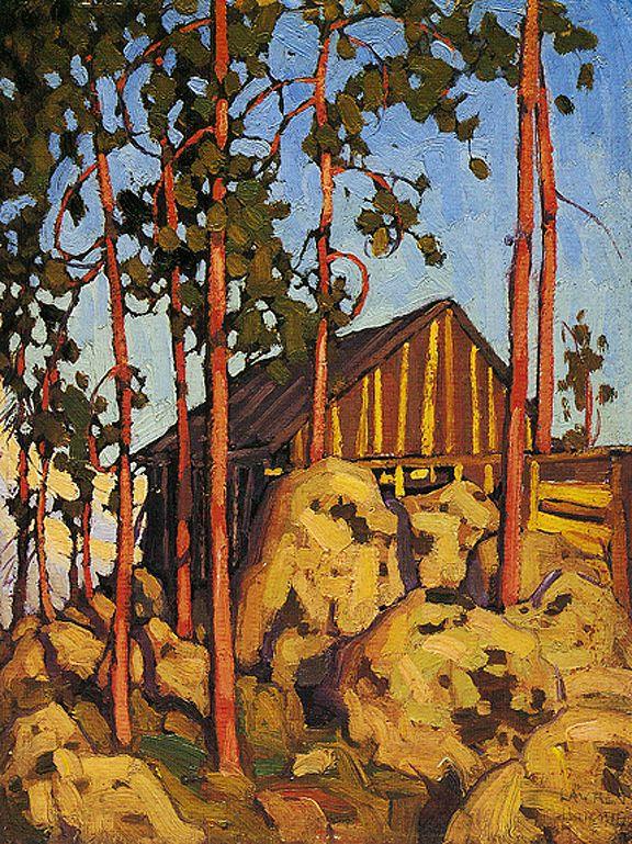 Cabin, Algonquin Park c.1916 Lawren Harris