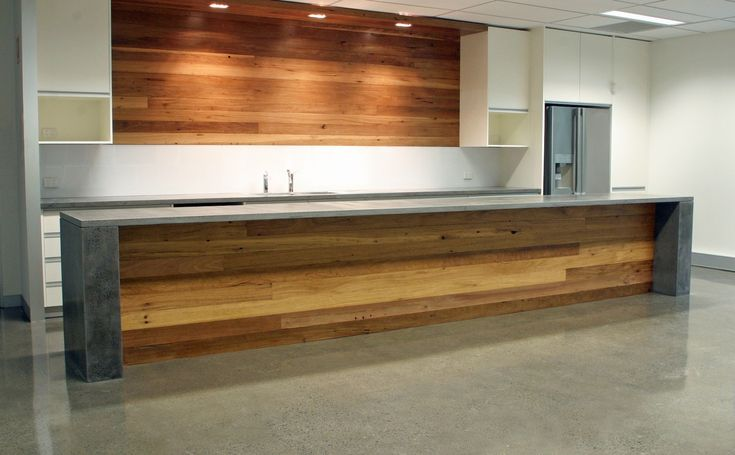 Recycled hardwood and polished concrete - a match made in heaven!