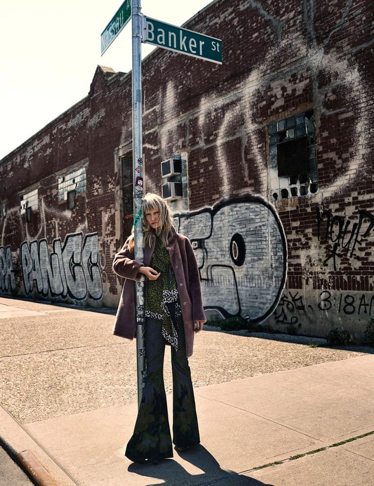 Landing an editorial in Vogue Ukraine's latest issue, English-born model Kirsten Owen takes on the bohemian trend with a luxe spin. Photographer Riccardo Vimercati captures the blonde wearing 70s inspired outerwear looks including long vests, fur coats and printed ponchos styled by Olga Yanul. Posing on the city streets with windswept hair and minimal makeup, …