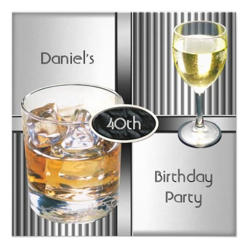 23 Awesome 40th Birthday Gift Ideas For Men: 17 Best Images About Men's Birthday Party Invitations On