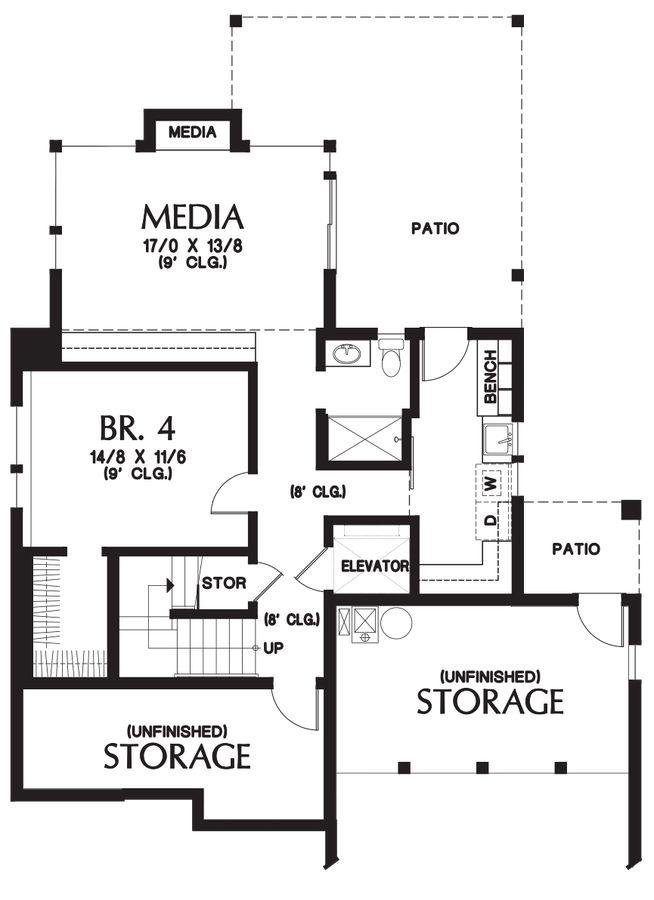 10 best craftsman plan 95700022 images on pinterest for Daylight basement floor plans