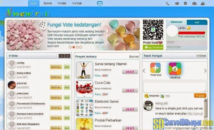 Dasbor akun paid survey Viewfruit | Survei Dibayar