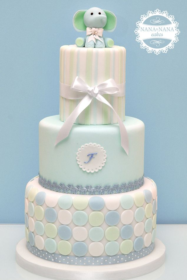 Baby Shower Cake - love the circles