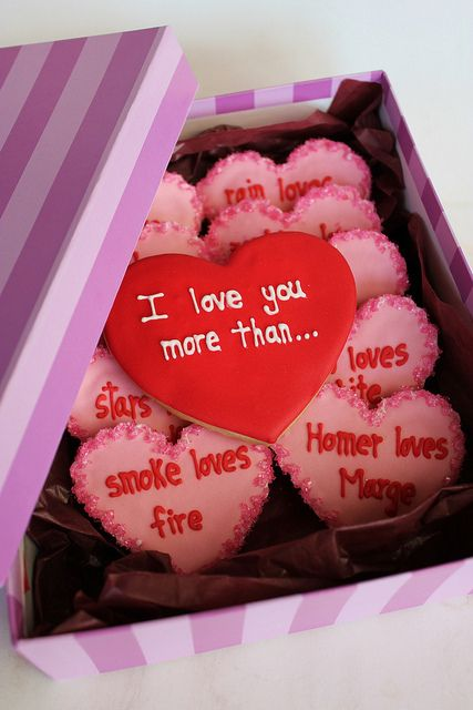 I love you more than.. so sweetValentine Day Ideas, Valentine'S Day, Valentine Cookies, Valentine Day Gift, Heart Cookies, Gift Ideas, Cute Ideas, Valentine Ideas, Valentine Gift