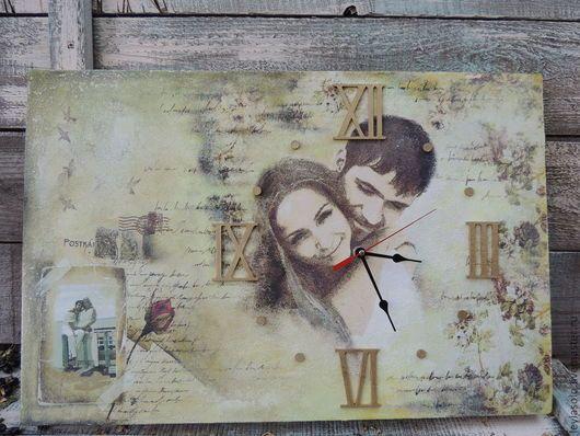 Часы для дома ручной работы. Часы фреска Старые письма о любви. Лейла (LeylaSolo). Ярмарка Мастеров. Часы декупаж, пара