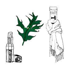 Lipstic, leaf & Treo
