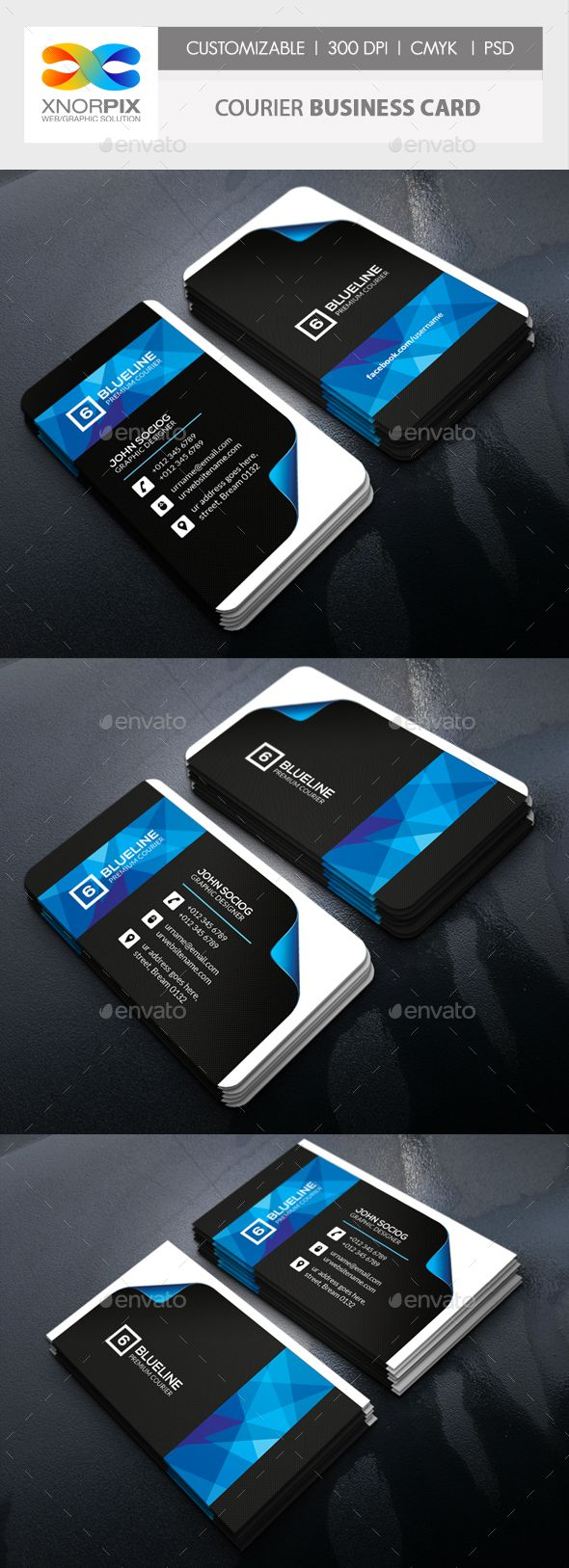 Courier Business Card Business Cards Construction Business Cards Business Card Template Design