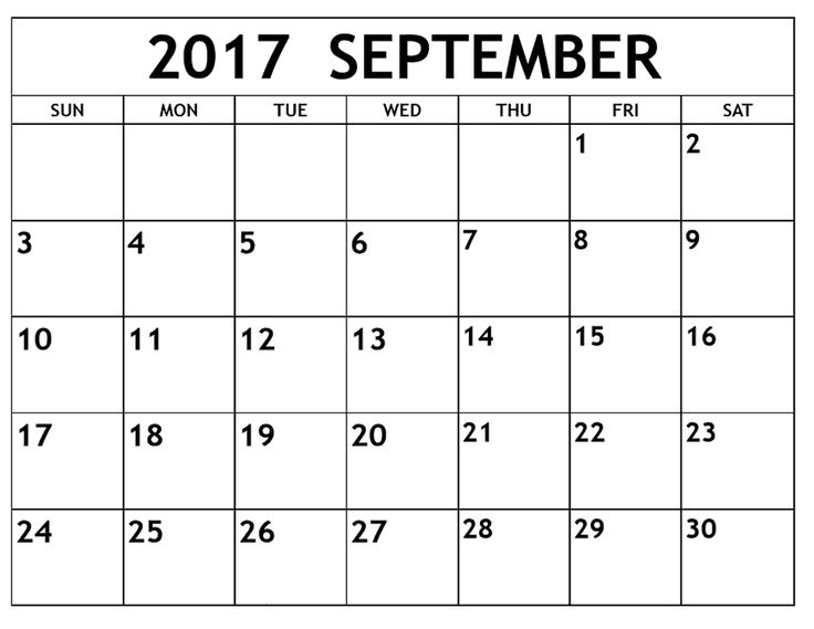 We have the best Free September 2017 Calendar Template Designs to Print. You can download all the free September 2017 printable calendar from our website.