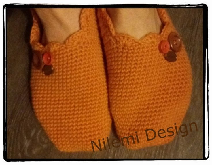 Easy crochet slipper pattern by NilemiFI on Etsy