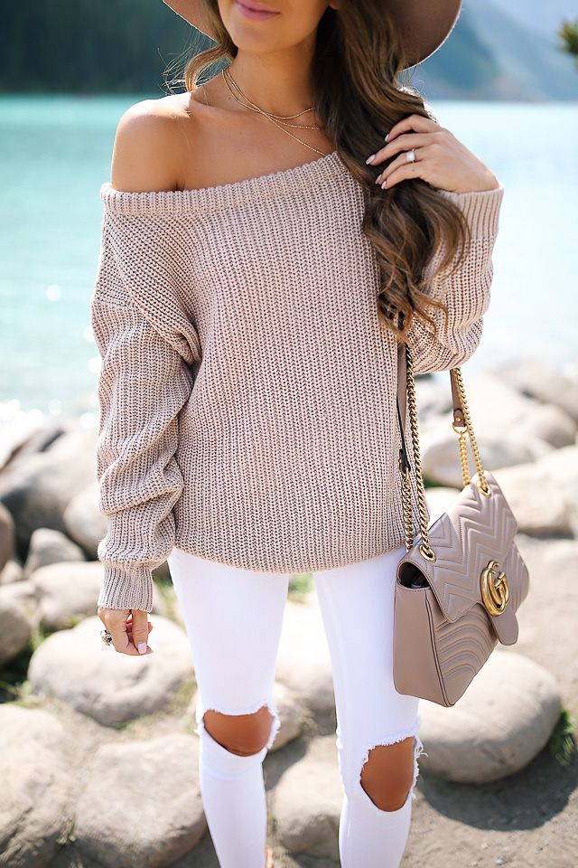 fall off the shoulder sweater, only $26