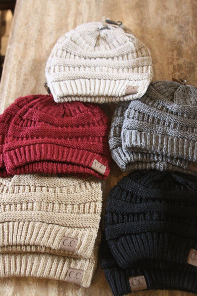 CC Beanies  Angel blue, light rose, burgundy, and taupe