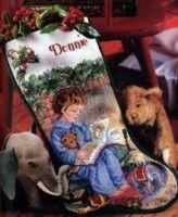 Gallery.ru / Фото #1 - Рожд.носок Читающая девочка - mila010154