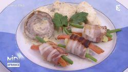 lotte à l andouille de guéméné et ses petits legumes