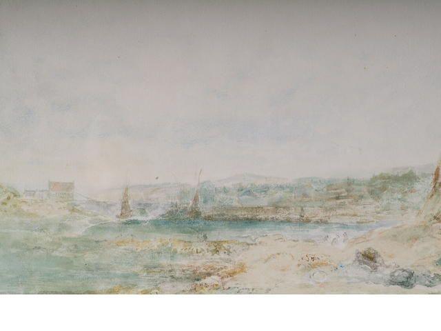"""Albert Pollitt """"An Angelsey Harbour"""","""