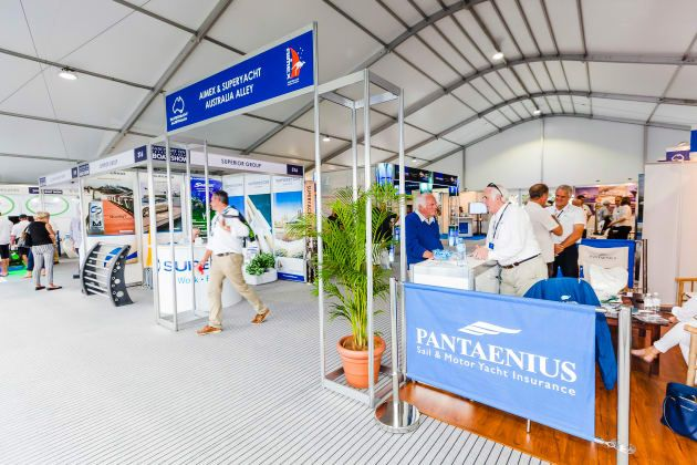 Superyacht and marine export exhibits fully booked for May show.