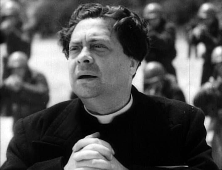 """Aldo Fabrizi, """"Roma città aperta"""", R. Rossellini"""