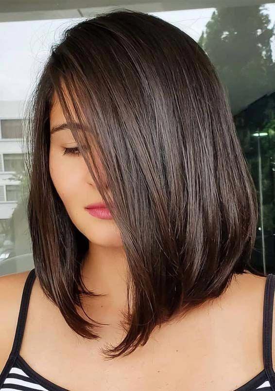 Stylish Choppy Lob Haircut For 2019 Women Shoulder Length Hairstyle Ideas Medium Hair Styles Womens Hairstyles Lob Haircut