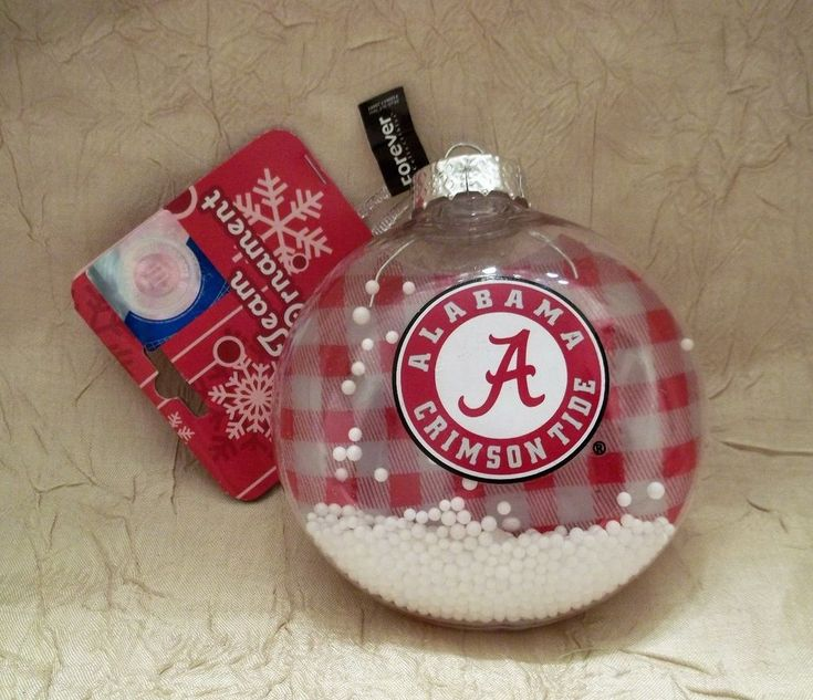 University Of Alabama Christmas Ornament Crimson Tide New with Tag #ForeverCollectibles #AlabamaCrimsonTide