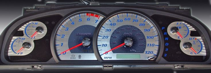 Toyota Tundra 2005-2006  Mph, 7000 Tach, Auto Stainless Steel Gauge Face With Red Numbers