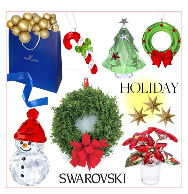 Swawovski Christmas! by whirlypath on Polyvore featuring interior, interiors, interior design, home, home decor, interior decorating and LumaBase