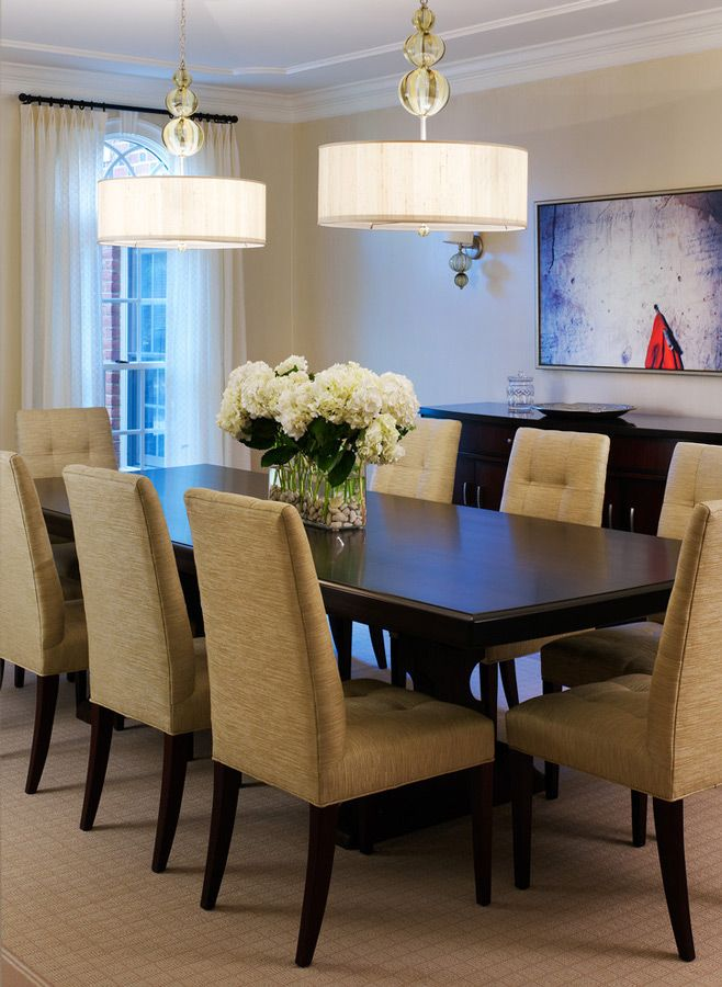 Tone on Tone Dining Room traditional