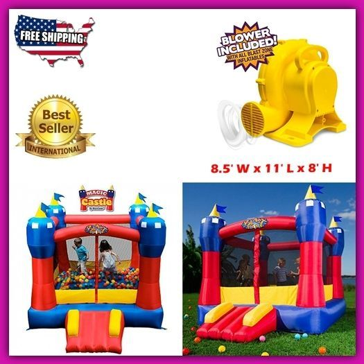 Inflatable Bouncing Castle Slide Top Toddler Toys Outdoor Activities For Kids HQ #InflatableBouncingCastle