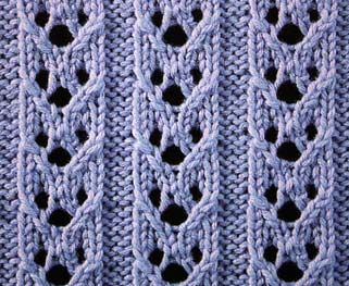 Hoops's Rib Stitch - Simple stitch with eyelet ribs suitable for scarves