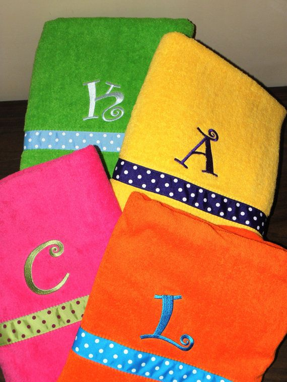 Personalized Beach Towel by MaeandMeDesigns on Etsy, $39.00