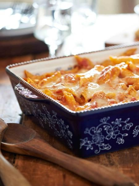 The kids are back in school and here is an easy go-to meal for school nights. Try my Chicken Parm Casserole!