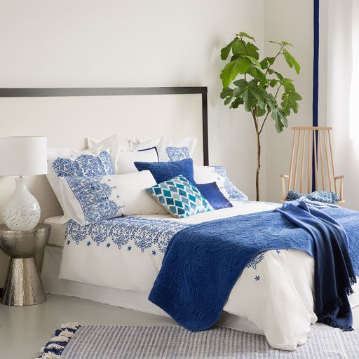 Geometric Embroidered Egyptian Cotton Bedding